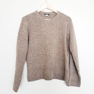 J.Crew Merino Wool Cashmere Pullover Brown Sweater